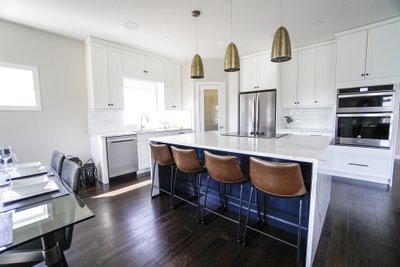 Lifestyle of a Kitchen with Electric Radiant Countertop Heaters