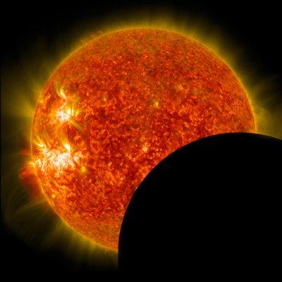 NASA solar eclipse photo