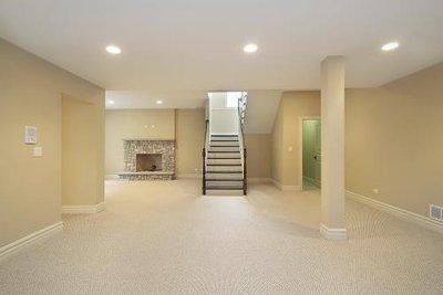 Open Floorplan Carpet Basement