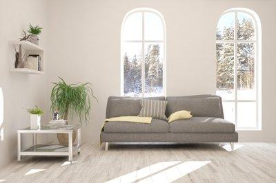 Radiant floor heating in a modern living room