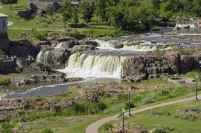 Sioux Falls SD landmark waterfall
