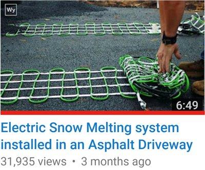 Snow melting installation video