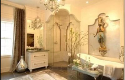 Thorndale Manor of Lake Forest Illinois Showhouse 2011 Master Bathroom with Radiant Heated tile floor