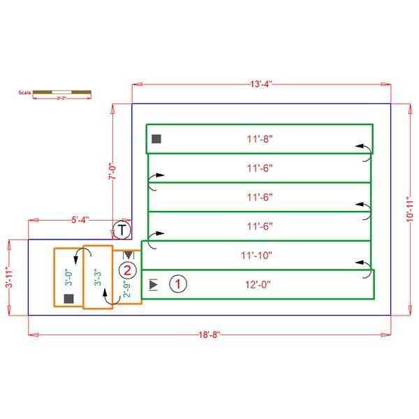 Basement floorplan with radiant heat