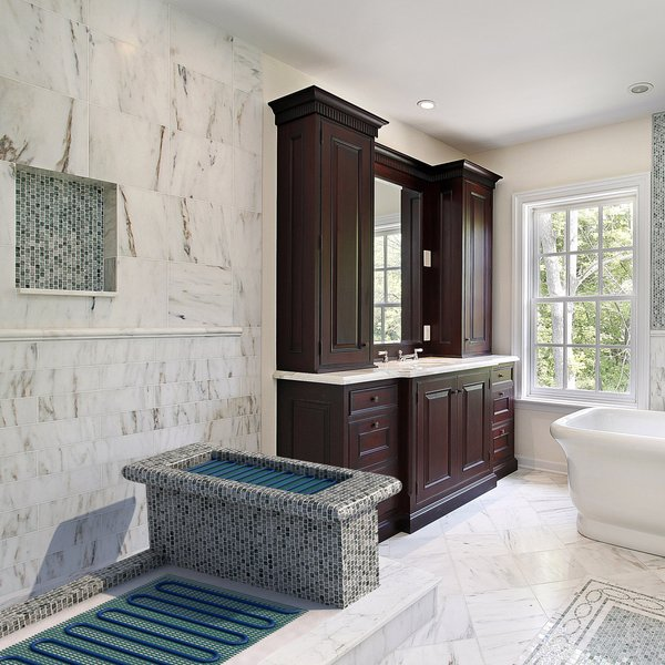 Shower Bench electric heat