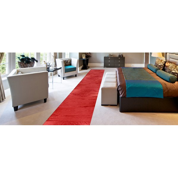Demonstration of heat output of a floor warming mat installed under carpet in a bedroom