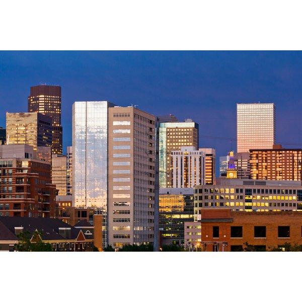 Denver Skyline at Dusk.