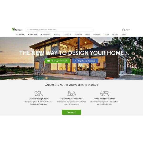 Houzz Homepage Screenshot