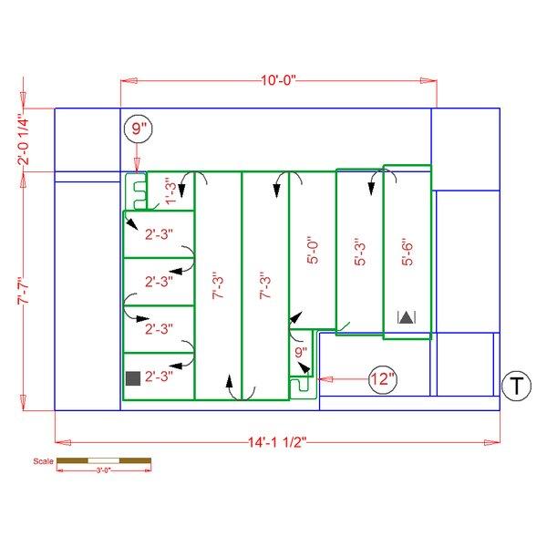 Kitchen Floorplan for Radiant Heat