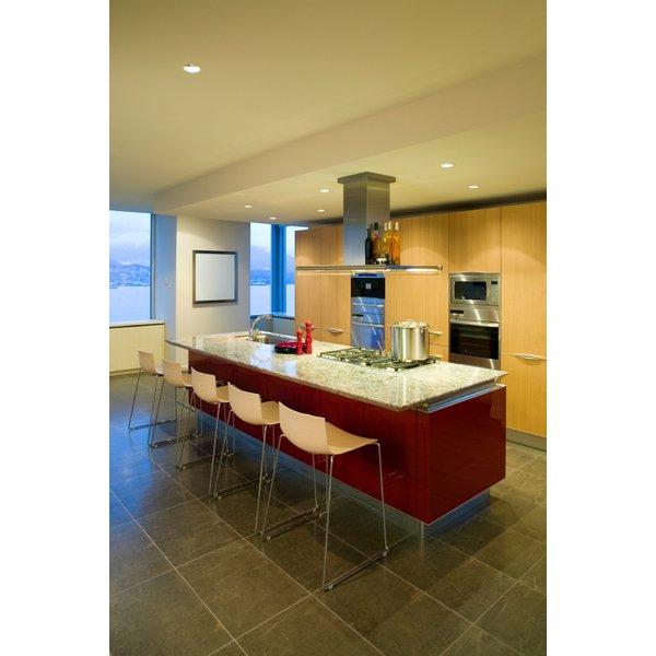 Kitchen Tile Floor Stock Image