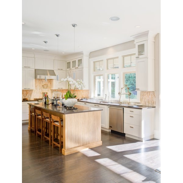 Heated floors in a kitchen