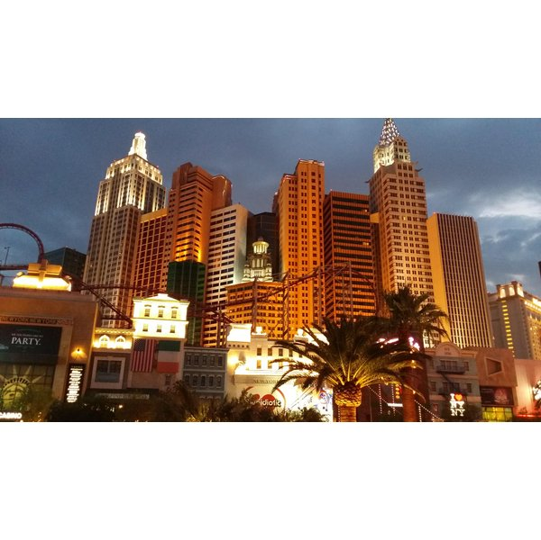 Las Vegas Skyline at Night - Photo by men2za at Morguefile.com