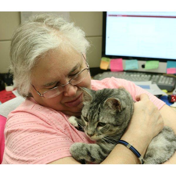 Linda Hoyt and her cat Sprinkles