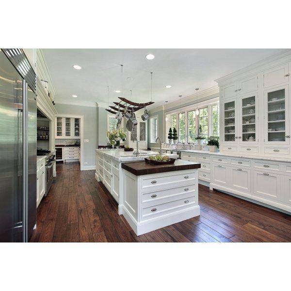 Modern Kitchen with Dark Wood Floors