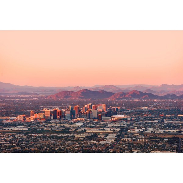 Phoenix Skyline-Aerial View