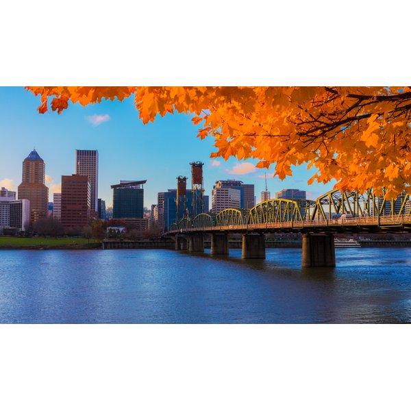 Portland Skyline in Autumn