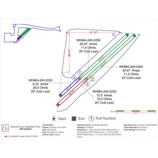 SmartPlan tire tracks snow melting project