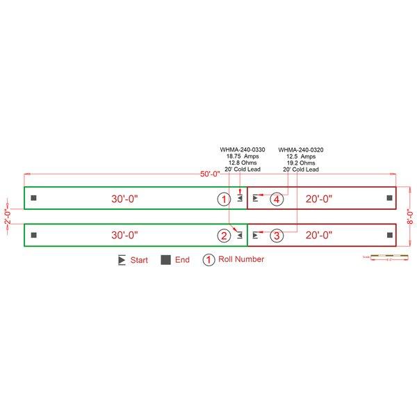 Snow Melting Mat Installation Plan IP1383516