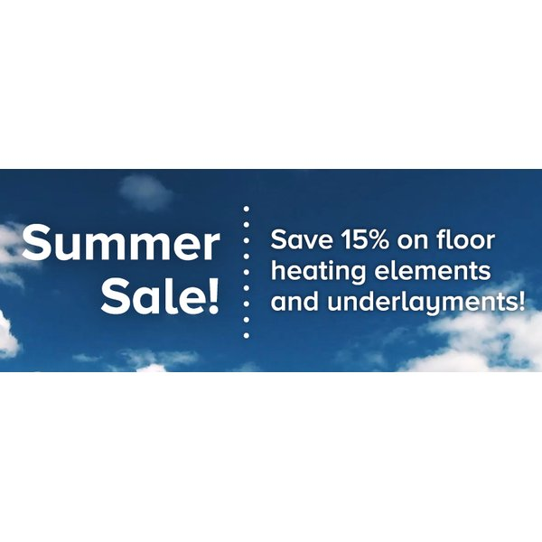 For a limited time, take 15% off WarmlyYours indoor floor heating elements and underlayments!
