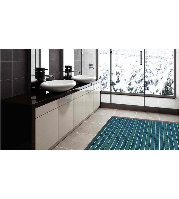 Bathroom with Tempzone floor heating in 3D illustration