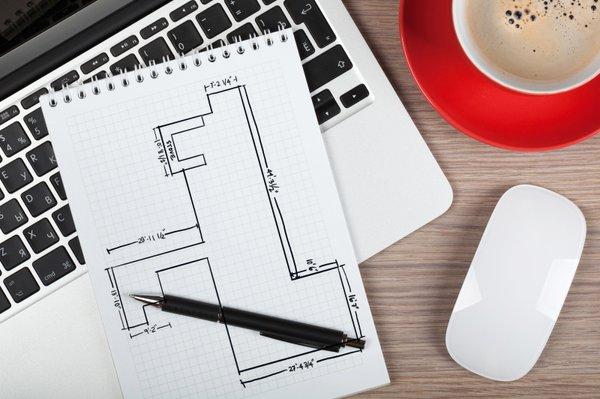Customer Sketch Floor plan Basement Hand drawn