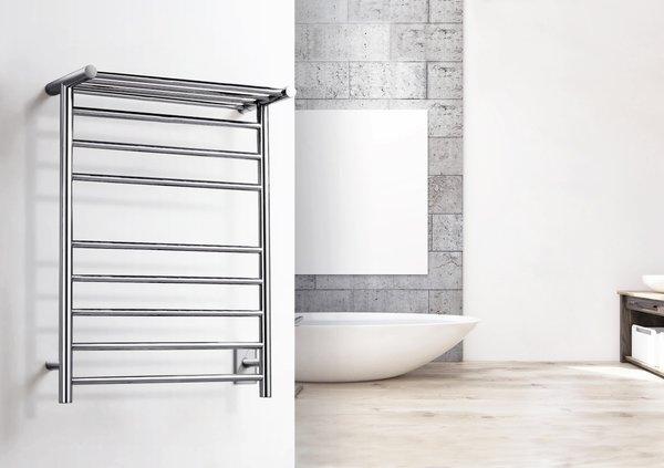 TWS1 HRN08BH   Huron Towel Warmer, Brushed, Hardwired, 8 Bars
