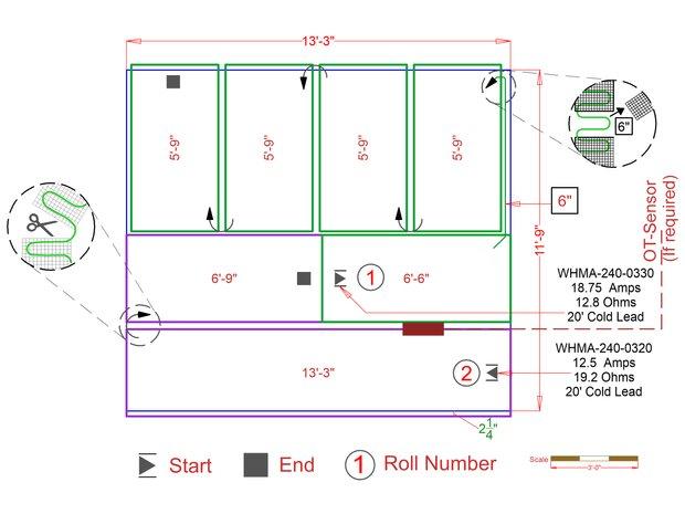 Patio snow melting mat example design plan bec562
