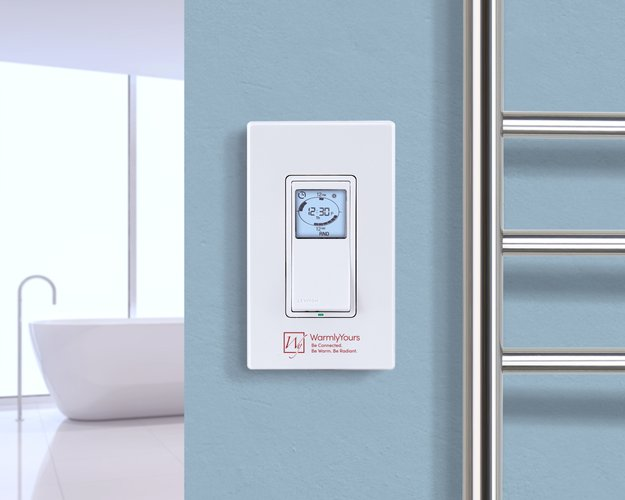 Hardwired Programmable Timer Towel Warmer & Radiant Panel Control Lifestyle