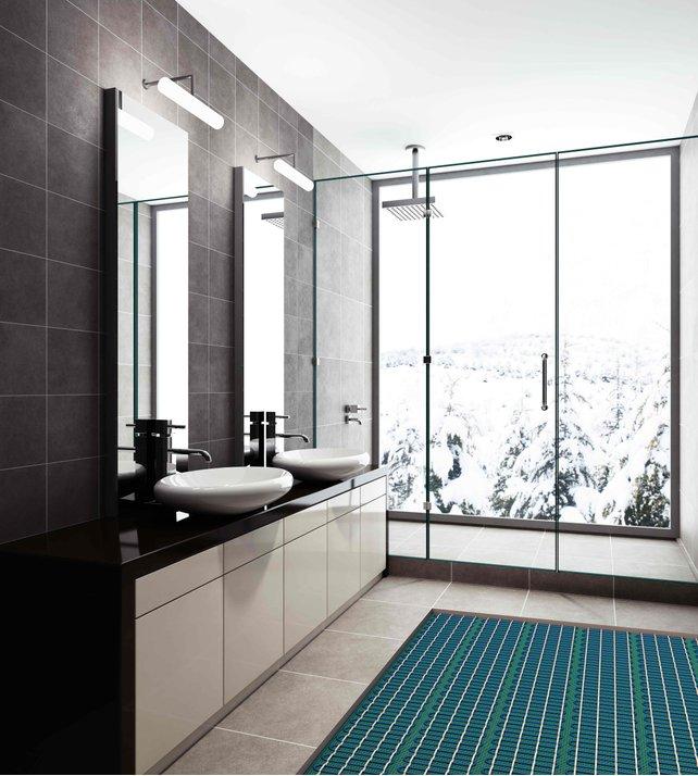 Heated Bathroom Floor Bathroom Floor Heating Cost